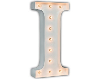 "Letter Light I - WHITE - 24"" Vintage Marquee Lights-The Original!"
