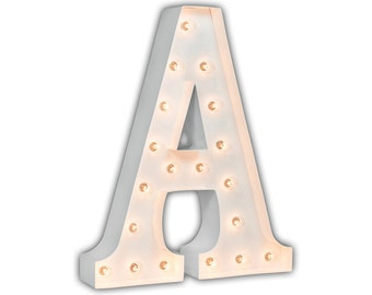 "Letter Light A - WHITE - 24"" Vintage Marquee Lights-The Original!"