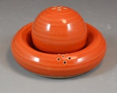 Nesting Shaker Set in Orange Tangerine Glaze - Wheel Thrown