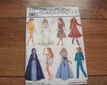 Vintage 80s Simplicity pattern 8333 BARBIE Fashion Doll clothes toy children girl