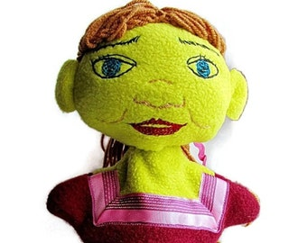 Fiona Hand Puppet of Shrek- Creative Play Toy-Custom Made Puppet/Storybook Character Puppet