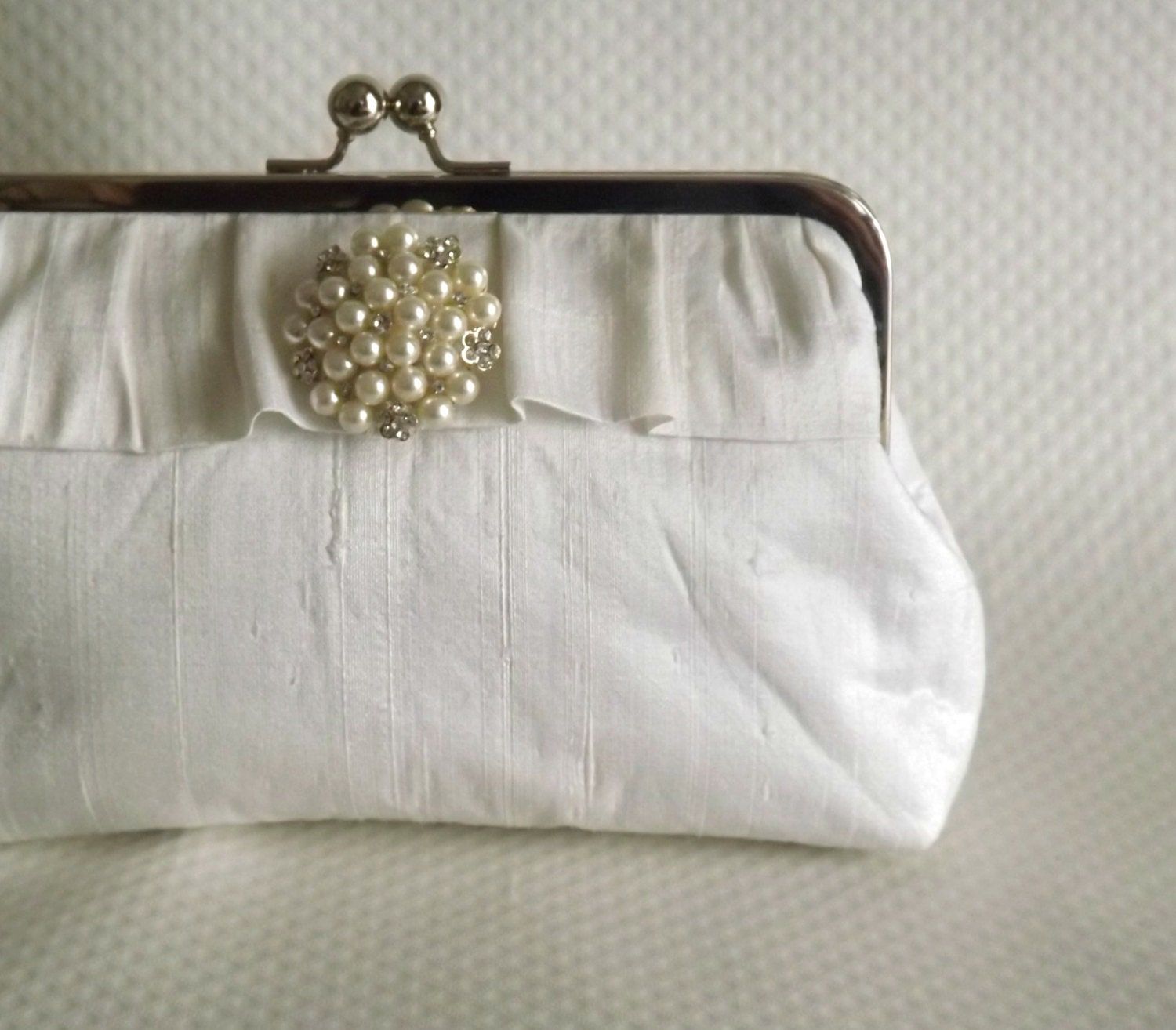 Wedding Clutch: Ivory Bridal Clutch Wedding Clutch Bridal Purse Wedding