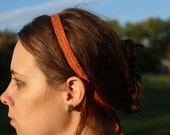 Tablet Woven Headband - Orange Cotton and Merino