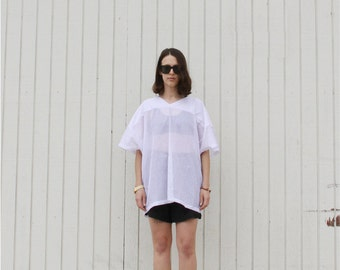 UNISEX white mesh athletic shirt. S/M/L/Xl