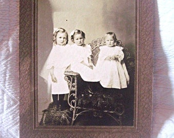 Antique cabinet card, victorian siblings photo, altered art supply mixed media supply, siblings cabinet card, historical photo, family photo