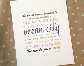 Ocean City, New Jersey 8 x 10 print