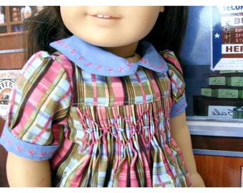Eighteen 18 Inch Historical Doll Dress Style Hand Smocked by Bon Jean Creations