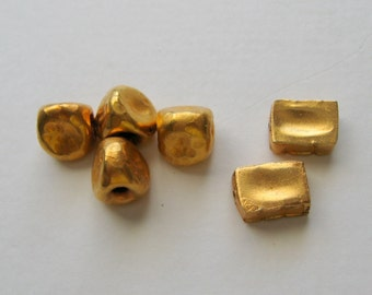 Thai Hilltribe Beads -  23k Gold Plated