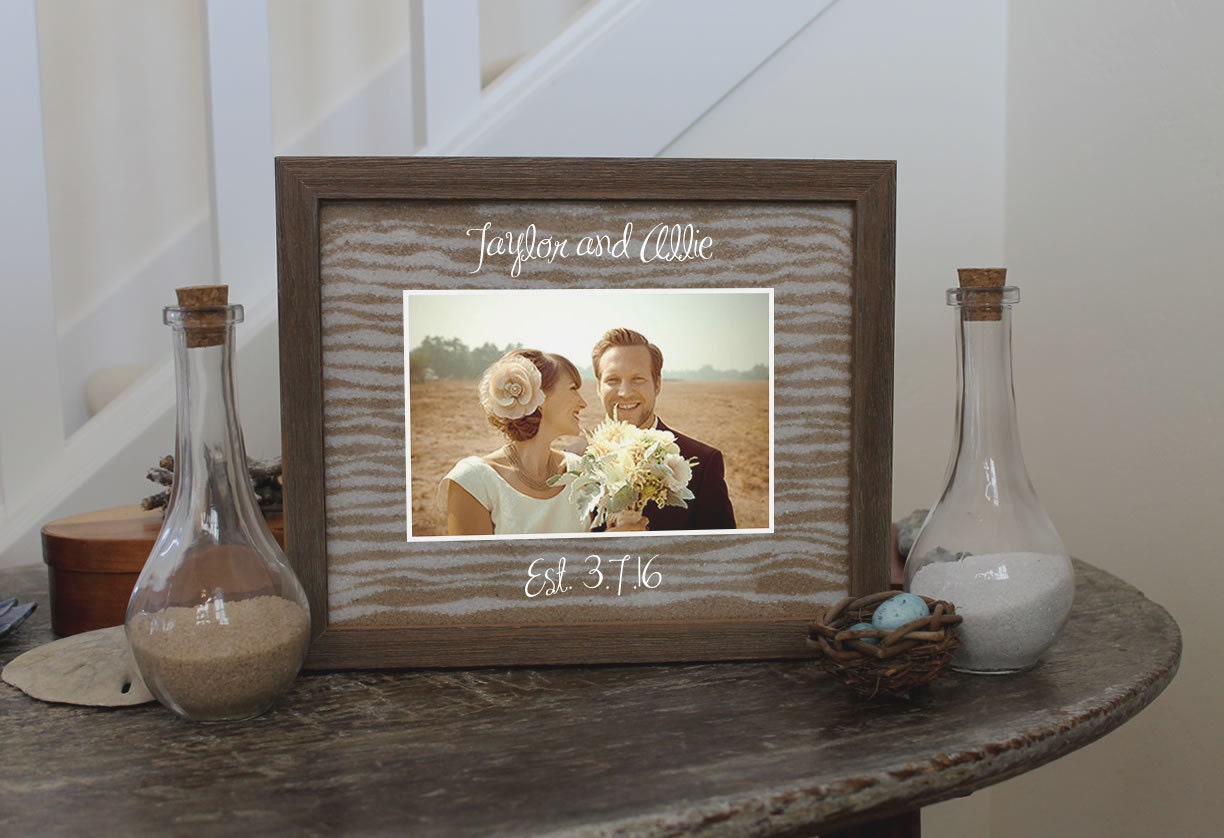Unity Sand Ceremony Frame Set In White Black By