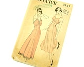 Vintage 1940s Sewing Pattern / 40s Misses Size 14 Full or Tea Length Slip Advance Pattern 5157 / bust 32 / Complete