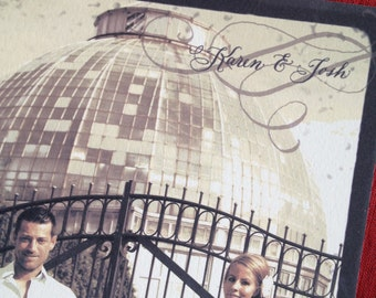 """Wedding Save the Date, Photo and Calligraphy, Love No. 30 """"Gatsby"""""""