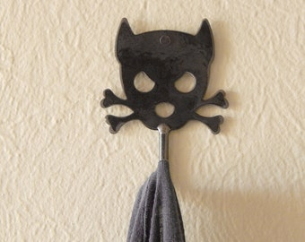 Outlaw Doggy Handmade Metal Wall Hook Spike by WATTO Distinctive Metal Wear for Hanging Keys, Coat or Dog Leash