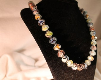Multi-Color Glass Beaded Necklace