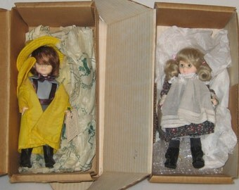 Pair ROBIN WOODS Dolls Made in America Lucy & John Original Boxes 8in Tall