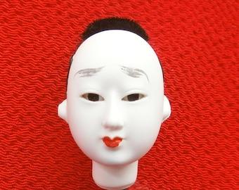 Japanese Doll Head Hina Matsuri  Man  Body Part #C Small Size