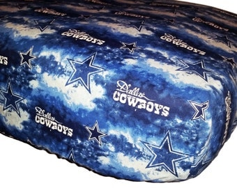 Crib or Toddler Bedding made with Dallas Cowboys print fabric  -  Your choice of items  - FREE Domestic Ship