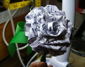 paper rose boutonniere buttonhole - private listing for Mimi Bradley