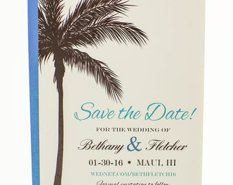 Single Sample Save the Date card with First Class Shipping