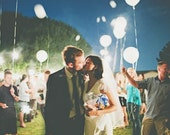 Paige - White LED Balloons that Glow. Wedding Send off! Light up the sky. Sending your wishes!