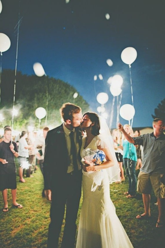 White Led Balloons That Glow Wedding Send Off Light Up The