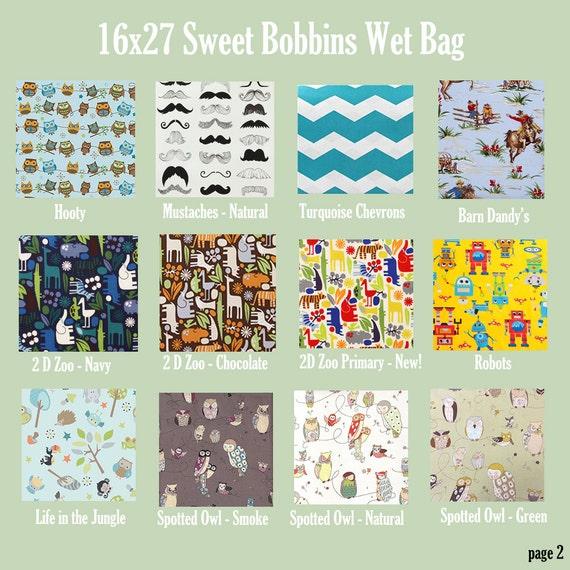 X-Large Hanging Wet Bag - U Pick Your Print - 16x27 - SEAM Sealed