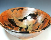 Large Serving Bowl in Copper Lava Glaze / Wheel Thrown Pottery in Stoneware Clay / Serving Bowl / Salad Bowl / Display Bowl