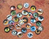 30 EYE STICKERS One inch eye CIRCLES, eye jewelry eye magnets eye bottle caps Eye images animals eyes eye stickers human eye images rtu eyes