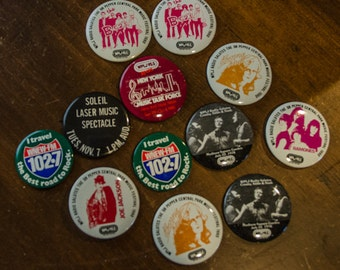Lot of VIntage 1980s WPLJ Rock Concert PIns