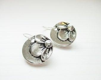 Ellie Earrings - Sweet Round Flower Drops - Gifts under 20