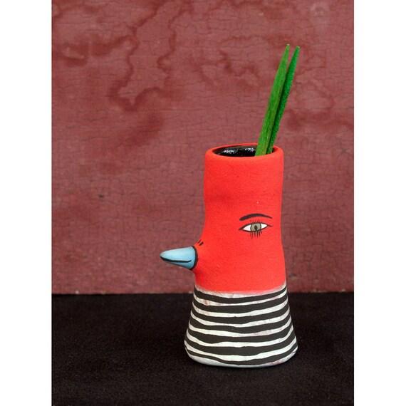 Ceramic toothpick holder bird vase gino - Toothpick dispenser bird ...