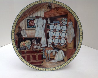 1991 Edwin M. Knowles Cozy Country Corners Collectors Plate