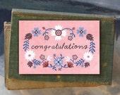 Congratulations Eva // Single Card // Fawnsberg Stationery