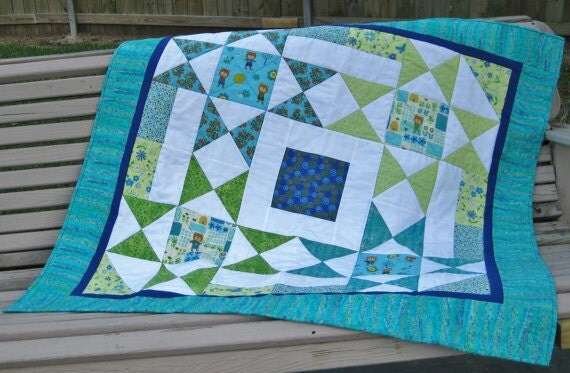 Baby Patchwork Quilt Girl Or Boy Toddler Or Kid Quilt Blanket