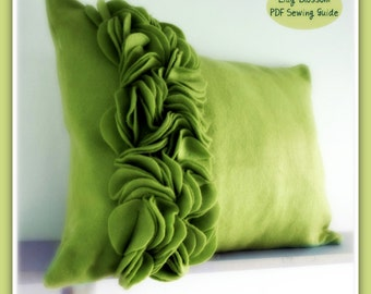 PDF Sewing Patterns Felt Ruffle and Border Cushion Covers.