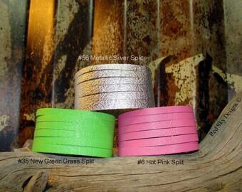 Set of 3 Leather Cuffs ~ Split Leather Bracelet -   Leather Supply Cuffs-  Split Leather Supply - Ultra Soft - Leather Jewlery -