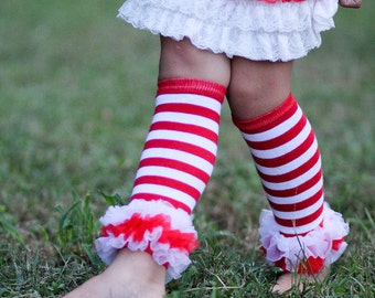 Leg warmers with ruffle bottom, Babies,leg warmers Red leg warmers- Photo prop- First Birthday Outfit- Matching Set-Chevron Tie