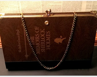 Book Clutch The Memoirs of Sherlock Holmes by Sir Arthur Conan Doyle Mystery Book Purse Clutch Made to Order