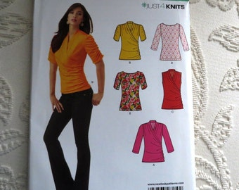 New Look Just 4 knits Pattern 6150 - Misses' seven sizes in one, Top,  Sz 4 thru 16