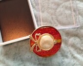 Red Hat Society pin brooch