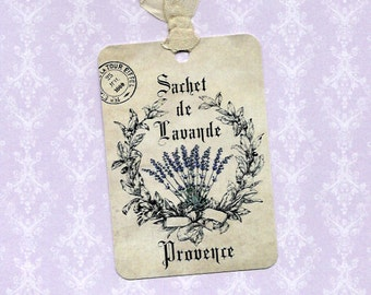Tags - Gift Tags - Lavender Sachet
