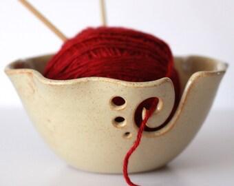 Ruffled Yarn Bowl / Yarn Bowl/ Knitting Bowl / Crochet Bowl /  Fall Creek Shino Yarn Bowl / Made to Order