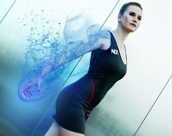 SALE! N7 Femshep Dress Mass Effect