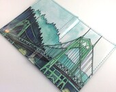 St Johns Bridge Passport Case