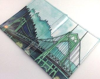 St Johns Bridge Passport Case