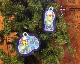 Handy Manny inspired ornament Set of 2 (not a licensed product) set 1