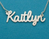 My Love Name Necklace Personalized, Double Thick Sterling Silver, #namenecklace, namenecklace, bestnamenecklace