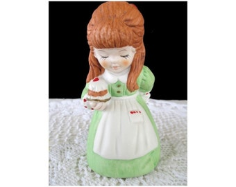 Vintage BELL * GIRL With CUPCAKE * House Of Lloyd 1981