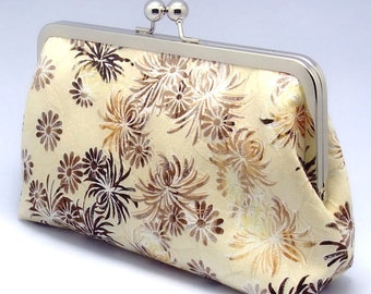 Sparkling Chrysanthemum - Large Clutch Purse (L-013) S1