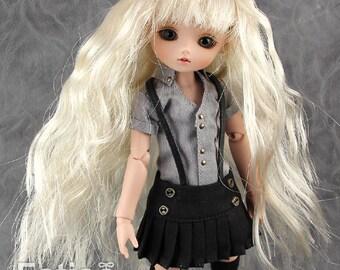 "Fatiao - New BJD Dollfie pukipuki brownie 3-4"" Doll curls Wig - Blonde"