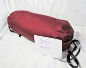 "Burgundy Neck roll, dark red bolster pillow cover, wine, 14x6"", insert additional, custom choice of 3 fabrics"